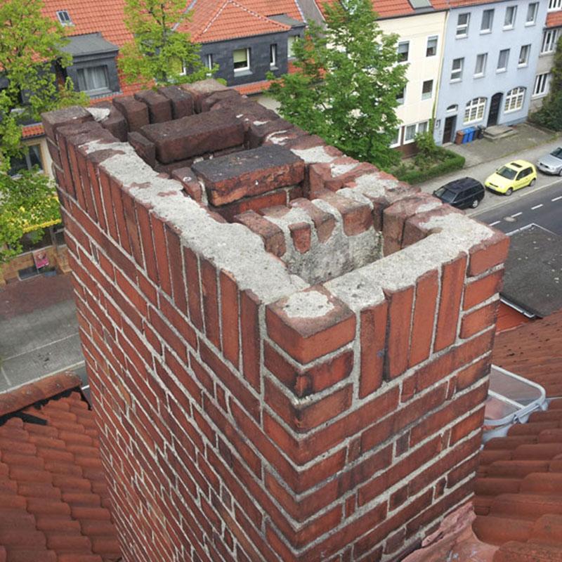 Betonarbeiten Dach Kamin