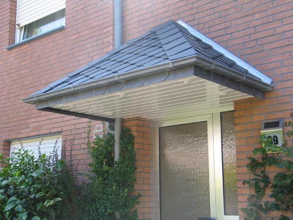 Fertigstellung eines verschiefertes Überdaches in Osnabrück