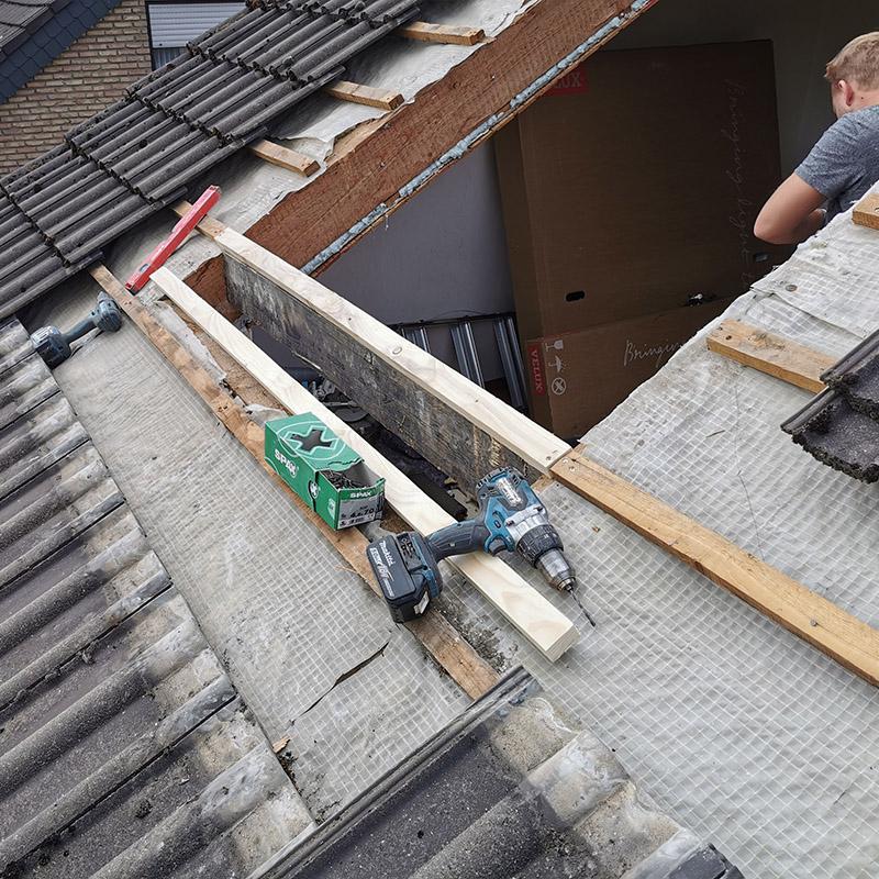Sparrenwechsel notwendig für passenden Veluxfenstereinbau