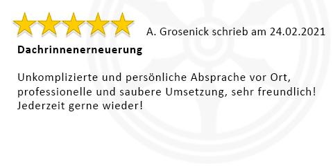 Bewertung von Familie Grosenick