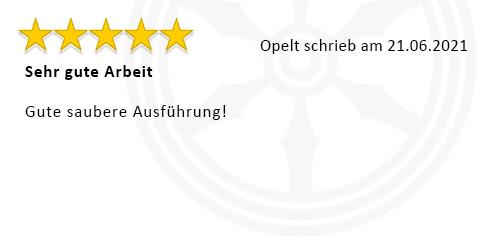 Kundenbewertung Opelt